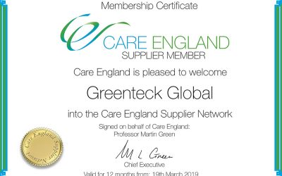 GreenTeck Global is now a Care England Supplier Member